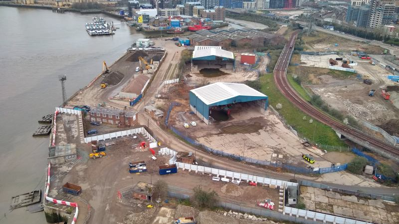Full extent of Silvertown Tunnel construction site revealed