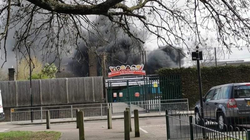 Fire breaks out at school in Abbey Wood