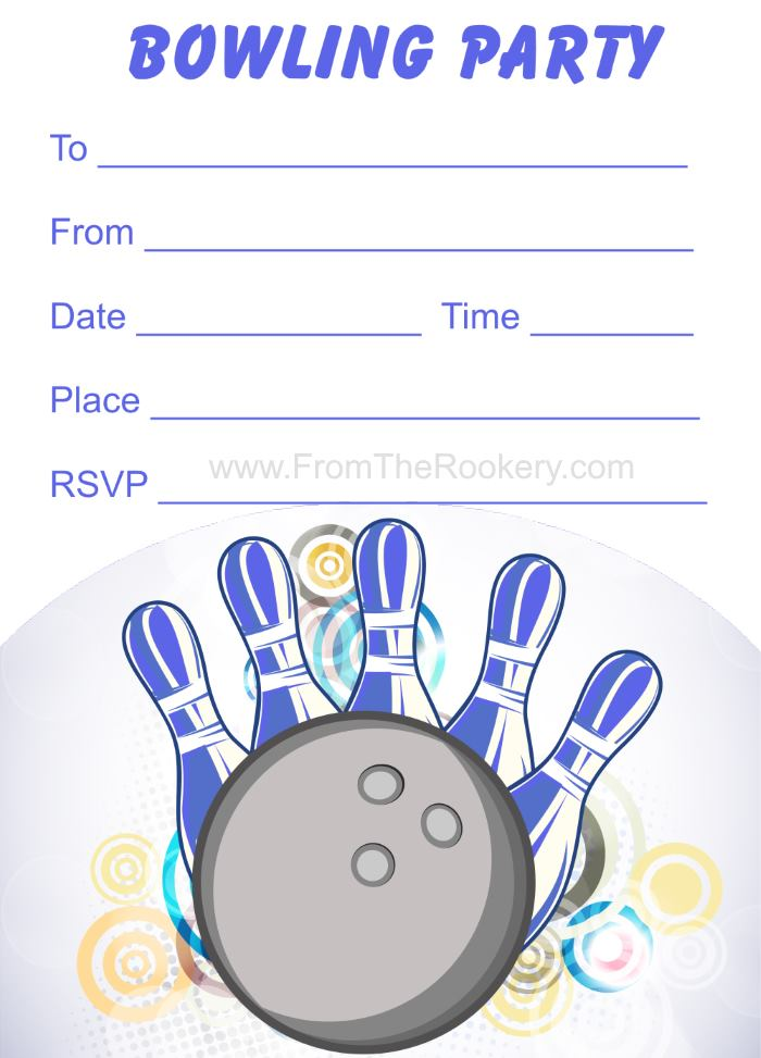 free printable bowling invitations