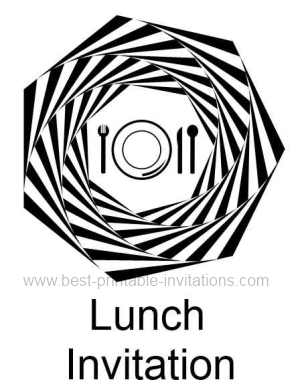 Printable Lunch Invite