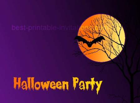Here we show you the best ideas of halloween party invitations, cards, designs of creative and original templates. Printable Halloween Party Invitations