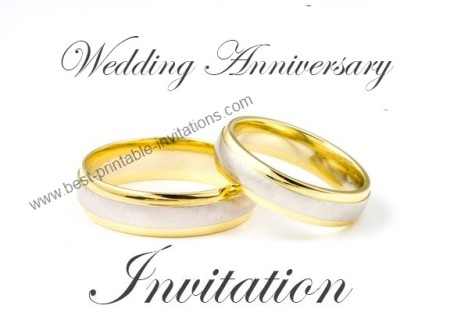 Wedding Anniversary Invitation Free Printable Card