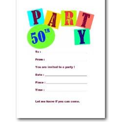 50th birthday invitations free