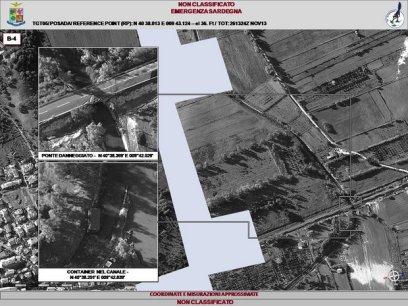 Scansione fotografica eseguita dall'Aeronautica Militare con il POD Reccelite in occasione dell'Emergenza in Sardegna 2013