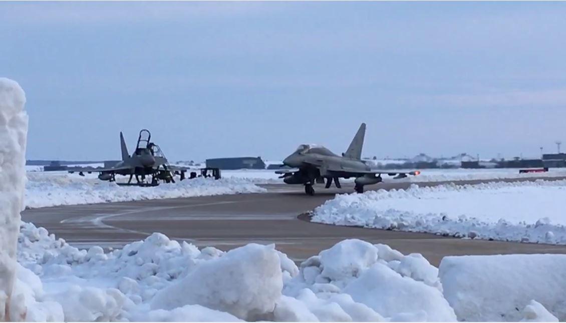 Eurofighter - 36 Stormo - Neve a Gioia del Colle