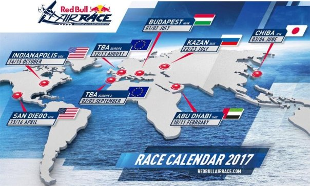 Calendario - Red Bull Air Race 2017