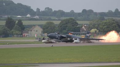 Photo of Atterraggio d'emergenza per il Sea Vixen a Yeovilton