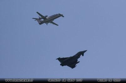 Grosseto Air Show 2017 - P180 e EFA