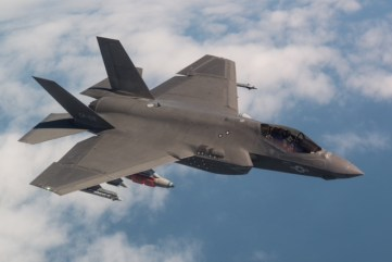 CF-02 Flt 596 piloted by Mr Peter Wilson flies the final System Development and Demonstration (SDD) test flight for the F-35. The was flwon from NAS Patuxent River, MD on 11 April 2018