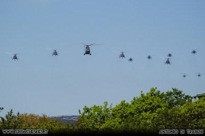 Moscow Victory Day Parade 2018 - Mil Mi-26 e Mil Mi-8AMTSh e Mil Mi-28 e Kamov Ka-52