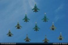 Moscow Victory Day Parade 2018 - Sukhoi Su-34 e 4 Sukhoi Su-30 e 2 Sukhoi Su-35S