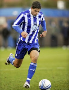Kyle in action with Sheffield United. (courtesy of OSAussies.com)