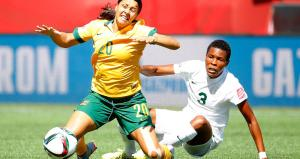 Sam Kerr in action for the Matildas