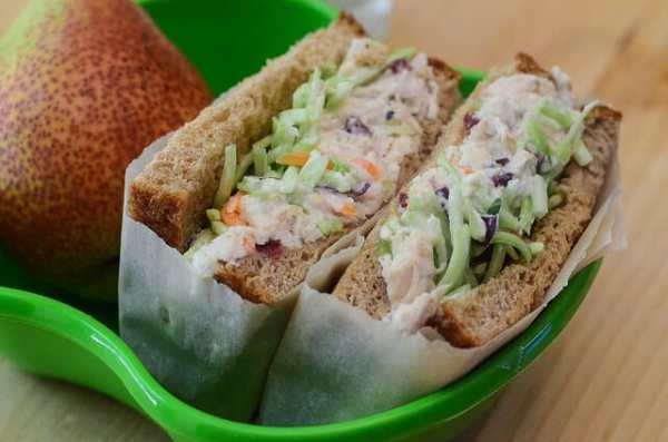 Crunchy Sweet Chicken Salad Sandwiches Valerie39s Kitchen