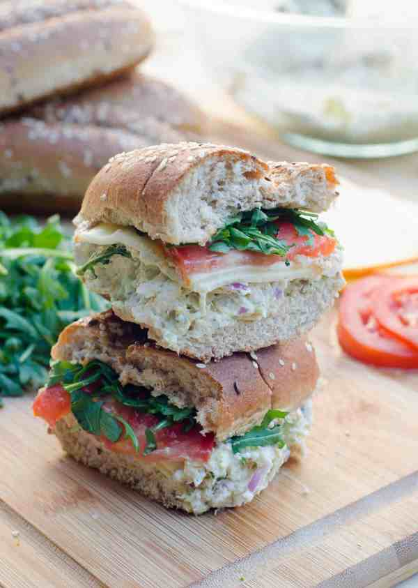 Pesto Chicken Salad Sandwiches Valerie39s Kitchen
