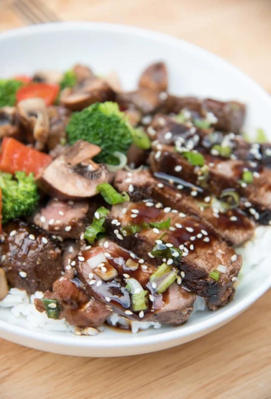 Grilled Steak Teriyaki | From Valerie's Kitchen