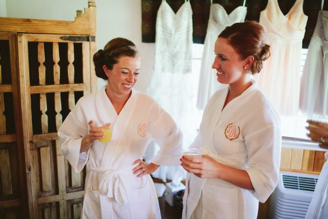 Bridal Party Prep Robes Mimosas Saratoga Inn