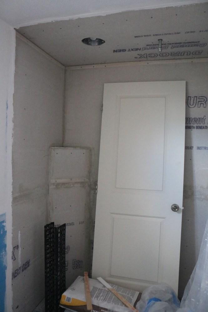 Cement board shower Bathroom Remodel