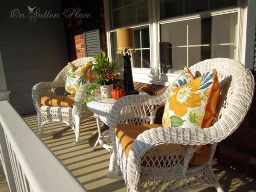front porch table and chairs ergonomic bean bag chair decorating for autumn - ideas your from sutton place