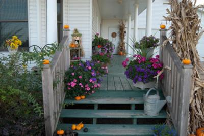 Autumn Porches  Decorating for Autumn  Autumn Decorating Ideas