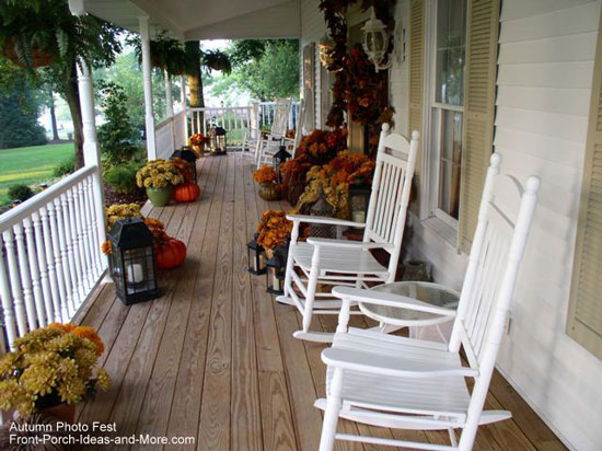 Front Porch Container Garden Decorating Fall
