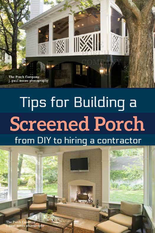 build a screened porch to let the