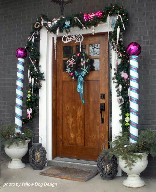 Pvc Candy Canes On Each Side Of Front Door