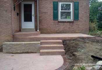 concrete porch steps concrete floor