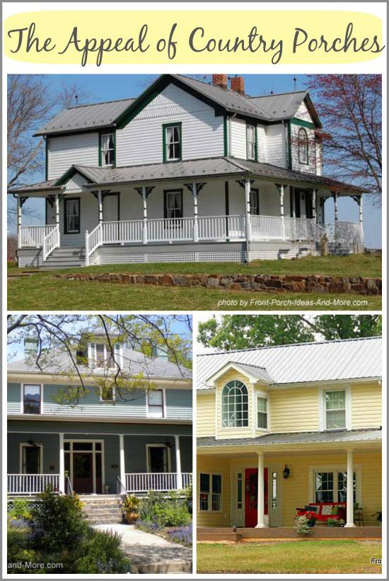 Country Porches Wrap Around Porches Farm House