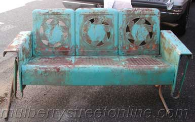 antique metal chairs for sale swing chair interior vintage furniture porch deco glider before
