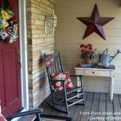 Wicker Porch Chair Cushions Black Leather Reception Chairs Decorating With Red | Easy Ideas
