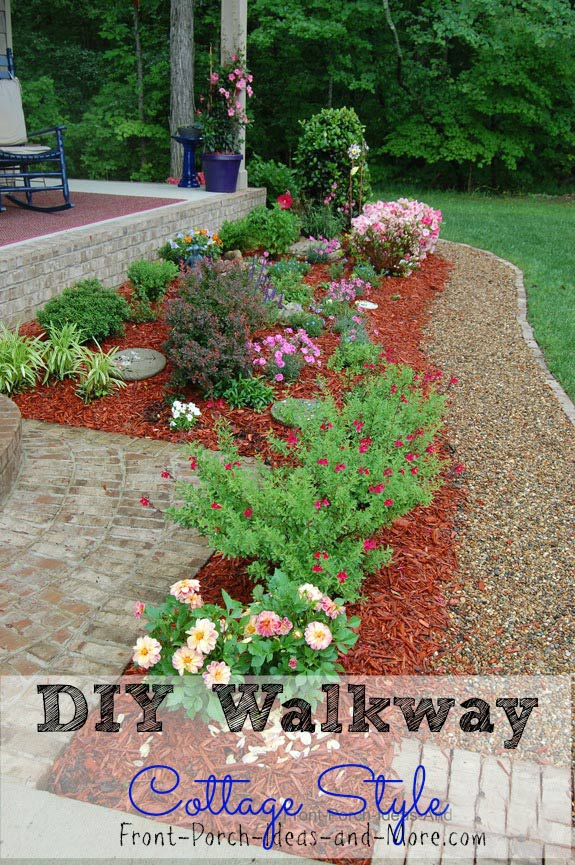 diy walkway idea pea gravel