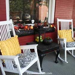 Bright And Beautiful Fall Front Porch Decor At Positively Splendid