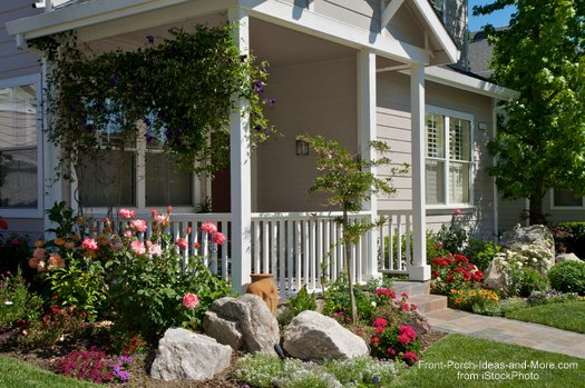 Landscaping With Rocks Around Your Porch