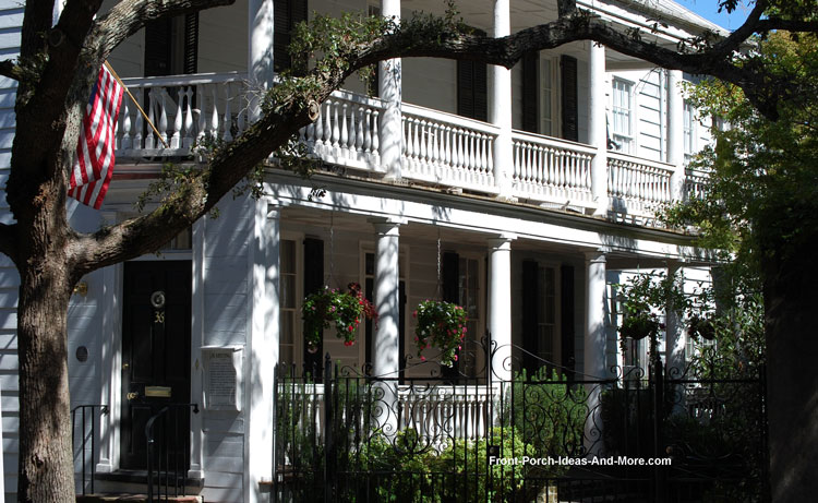Historic Charleston SC  Historic Charleston Homes  Front porch pictures