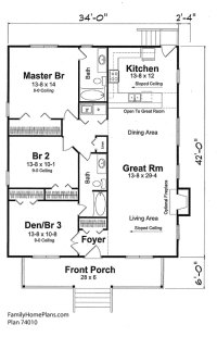 Small House Floor Plans | Small Country House Plans ...