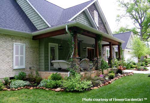 Landscaping With Rocks Around Your Porch Porch Rock Border And
