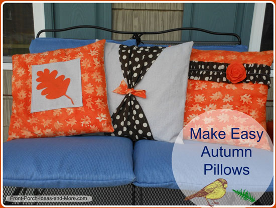 pillow cover pattern for autumn how