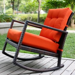 Rattan Wicker Rocking Chair Cushion Hammock Stand Uk | Outdoor Pictures