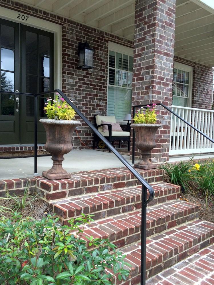 Porch Hand Rails Designs Kits And More   Handrails For Porch Steps   Elderly   Makeover   Metal   Back Porch   Aluminum
