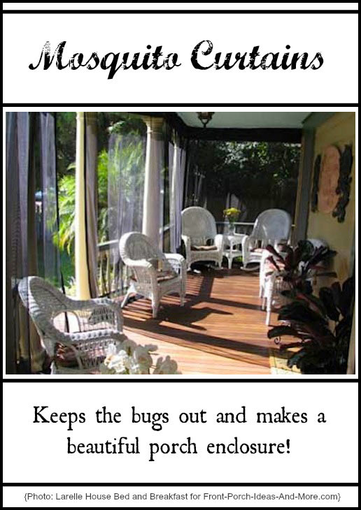 mosquito curtains make for easy and