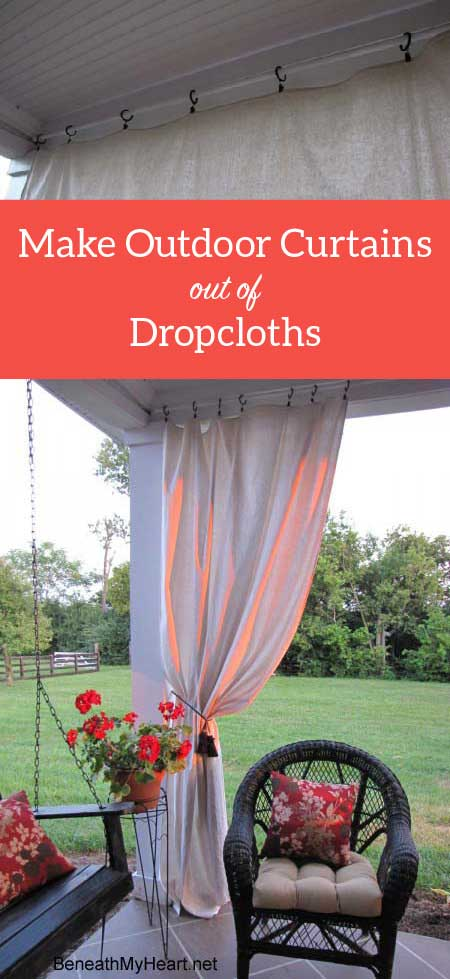 make your own outdoor curtain panels