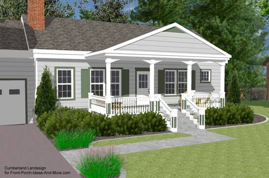 Porch Roof Designs Front Porch Designs Flat Roof Porch