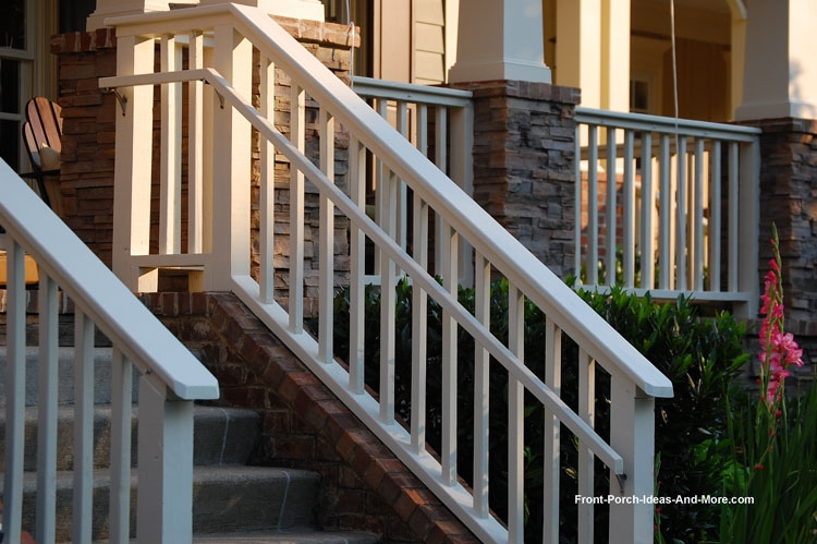 Stair Hand Rails For Porches And Decks | Safety Rails For Outside Steps | Stair Handrail | Wrought Iron | Steel | Front Porch | Deck Railing