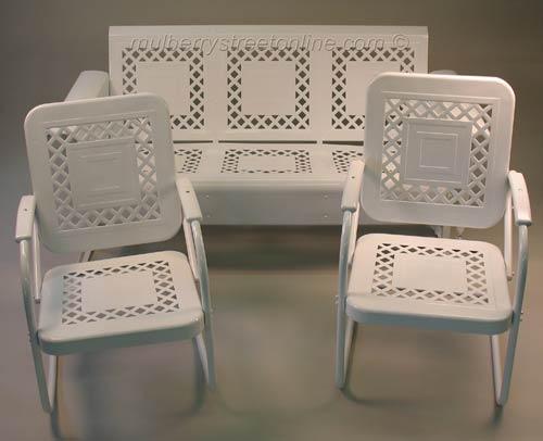 vintage metal furniture vintage porch
