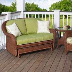 outdoor furniture glider wicker