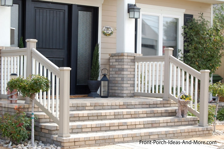 Porch Steps Designs And More | Front Porch Steps Designs | Porch Style | Beautiful Front | Front Entry Brick Stair | Outside | Outdoor Step