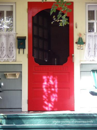 Wooden Screen Door  Wood Screen Door  Vintage Screen Door