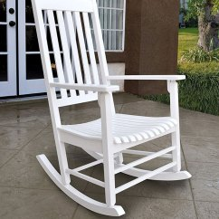 White Wood Rocking Chair Ekornes Stressless Chairs Porch Pictures Rockers On Patio