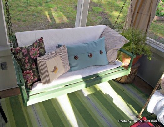 Porch Swing On Denise S Screened